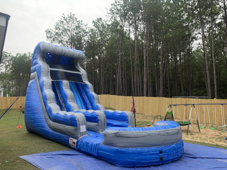 18ft Blue Lagoon Water Slide